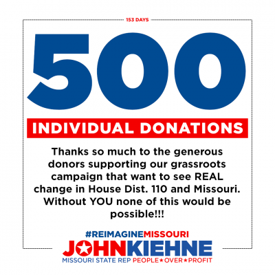 We've Received 500 Individual Donations!