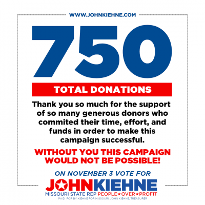 We've Earned 750 Donations! Thank You!!!