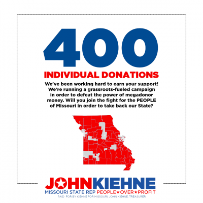 We're in it for the PEOPLE- not the Profit. (We've Received 400 Individual Donations!)